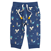 Buy John Lewis Baby Artroom Mouse All-Over Print Joggers, Blue Online at johnlewis.com