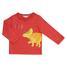 Buy John Lewis Baby Artroom Hello Dino T-Shirt, Red Online at johnlewis.com