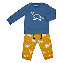 Buy John Lewis Baby Artroom Dino T-Shirt and Trousers Set, Multi Online at johnlewis.com
