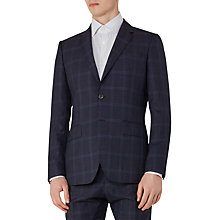 Buy Reiss Bullard Tonal Check Slim Fit Suit Jacket, Navy Online at johnlewis.com
