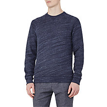 Buy Reiss Drava Loopback Cotton Sweatshirt, Navy Online at johnlewis.com