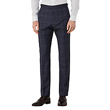 Buy Reiss Bullard Tonal Check Slim Fit Suit Trousers, Navy Online at johnlewis.com