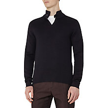 Buy Reiss Stallone Button Detail Jumper, Navy Online at johnlewis.com
