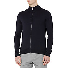 Buy Reiss Rewind Merino Full Zip Jumper, Navy Online at johnlewis.com