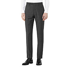 Buy Reiss Mitre Wool Contrast Weave Modern Fit Suit Trousers, Charcoal Online at johnlewis.com