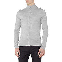 Buy Reiss Rewind Merino Full Zip Jumper, Grey Online at johnlewis.com