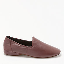 Buy John Lewis Seville III Leather Slippers, Oxblood Online at johnlewis.com