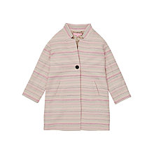 Buy Jigsaw Girls' Stripe Jacquard Coat, Pink Online at johnlewis.com