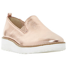 Buy Dune Guise Slip On Flatform Loafers, Rose Gold Online at johnlewis.com