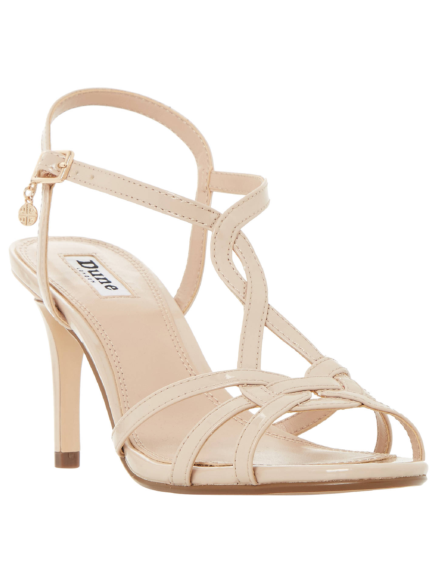 BuyDune Miniee Strappy Stiletto Sandals, Nude, 3 Online at johnlewis.com