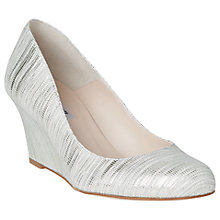 Buy L.K. Bennett Zahara Wedge Heeled Court Shoes, Metallic Cream Online at johnlewis.com