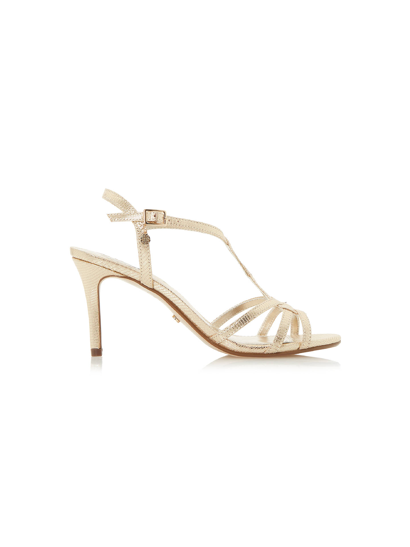 20a94823b2470 Buy Dune Miniee Strappy Stiletto Sandals, Gold, 3 Online at johnlewis.com  ...