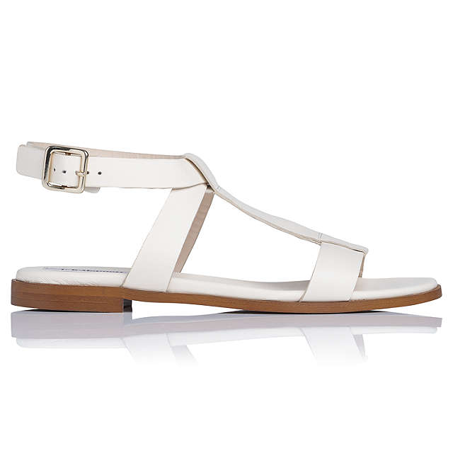 BuyL.K. Bennett Sofie Sandals, Cream, 2 Online at johnlewis.com