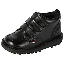 Buy Kickers Children's Kick 3 Strap Shoes, Black Online at johnlewis.com
