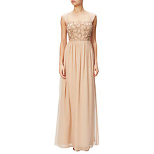 Buy Adrianna Papell Cap Sleeve Beaded Bodice Chiffon Gown Online at johnlewis.com