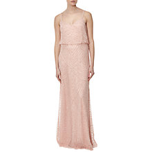 Buy Adrianna Papell Long Blouson Dress, Blush Online at johnlewis.com