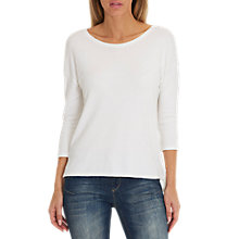 Buy Betty & Co. Textured Jersey Top, Star White Online at johnlewis.com