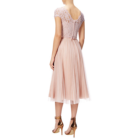 Buy Adrianna Papell Petite Cap Sleeve Scroll Lace Evening Top, Blush Online at johnlewis.com