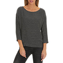 Buy Betty & Co. Oversized Textured Top, Black/White Online at johnlewis.com