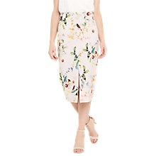 Buy Oasis Neon Bird Front Slit Skirt, Multi Online at johnlewis.com