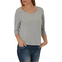 Buy Betty & Co. Three-Quarter Sleeve Jersey Top, Light Silver Melange Online at johnlewis.com