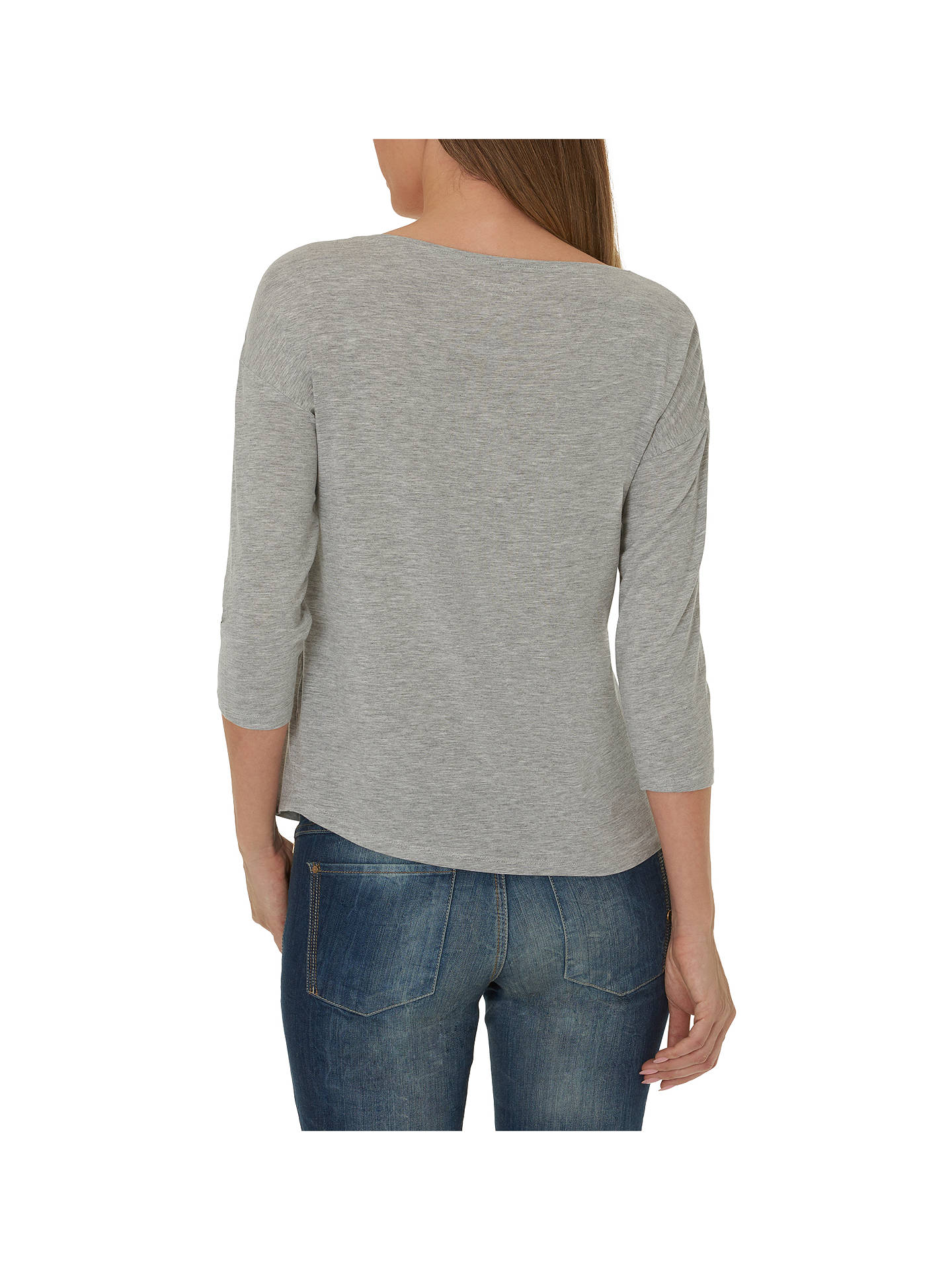 Buy Betty & Co. Three-Quarter Sleeve Jersey Top, Light Silver Melange, S Online at johnlewis.com