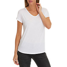 Buy Betty Barclay V-Neck Cap Sleeve T-Shirt, White Online at johnlewis.com