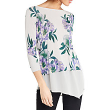 Buy Oasis Wild At Heart Asymmetric Top, Lilac Online at johnlewis.com
