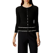 Buy Karen Millen Pretty Cardigan, Black/White Online at johnlewis.com