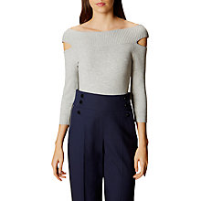 Buy Karen Millen Shoulder Focus Jumper, Pale Grey Online at johnlewis.com