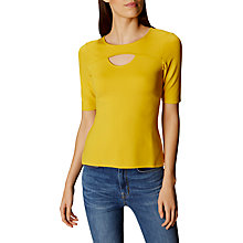 Buy Karen Millen Cut Out Casual Top, Yellow Online at johnlewis.com