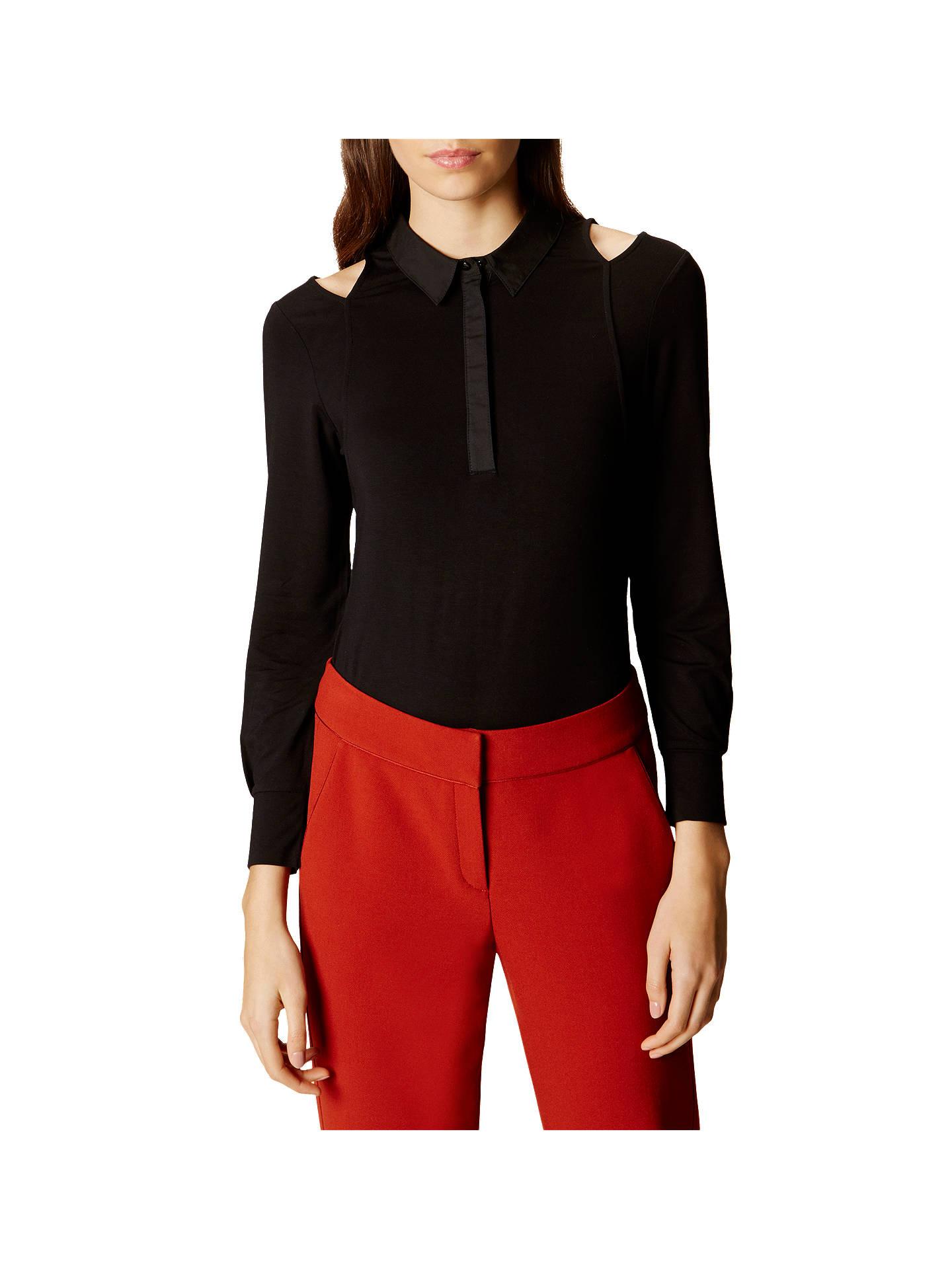 fa6bcb792153b Buy Karen Millen Cold Shoulder Jersey Top