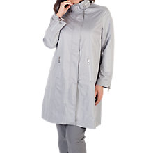 Buy Chesca Ruched Collar Zip Raincoat, Grey Online at johnlewis.com