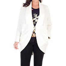 Buy Chesca Shawl Collar Jacquard Coat, White Online at johnlewis.com