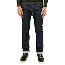 Buy Ted Baker Spinga Straight Fit Selvedge Jeans, Rinse Denim Online at johnlewis.com