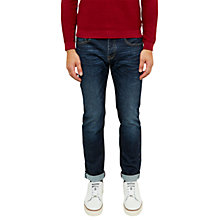 Buy Ted Baker Spolky Straight Fit Selvedge Jeans, Mid Wash Online at johnlewis.com