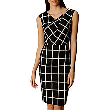 Buy Karen Millen Windowpane Check Dress, Black/White Online at johnlewis.com