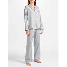 Buy John Lewis Briony Butterfly Pyjama Set, Grey Online at johnlewis.com