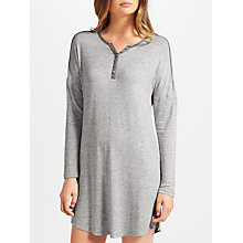 Buy John Lewis Space Dye Lounge Nightdress, Ivory/Grey Online at johnlewis.com