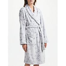 Buy John Lewis Butterfly Embossed Fleece Dressing Gown, Grey Online at johnlewis.com