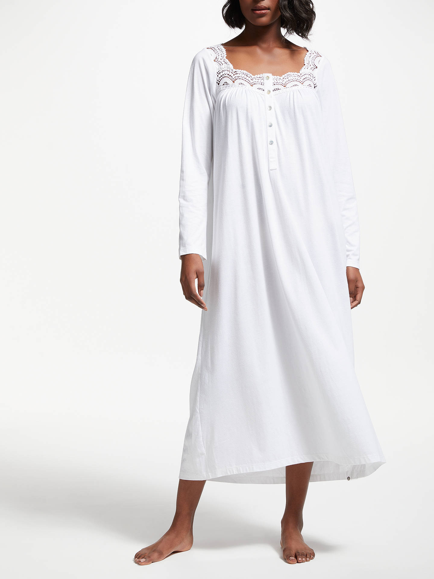 da01d10b6d BuyJohn Lewis   Partners Long Sleeve Lace Trim Jersey Nightdress
