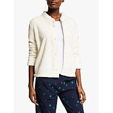 Buy John Lewis Waffle Shawl Collar Bed Jacket, Ivory Online at johnlewis.com