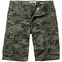 Buy Fat Face Boys' Camouflage Cargo Shorts, Khaki Online at johnlewis.com