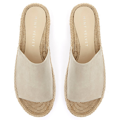 Buy Mint Velvet Beth Espadrille Slider Sandals Online at johnlewis.com