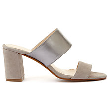 Buy Mint Velvet Mollie Mule Sandals, Grey Online at johnlewis.com