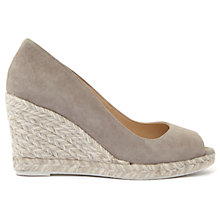Buy Mint Velvet Cleo Peep Toe Wedge Heeled Sandals, Grey Online at johnlewis.com