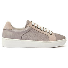 Buy Mint Velvet Willow Lace Up Trainers, Rose Gold Online at johnlewis.com
