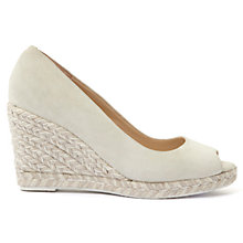 Buy Mint Velvet Cleo Peep Toe Wedge Heeled Sandals, White Online at johnlewis.com