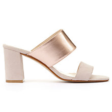 Buy Mint Velvet Mollie Mule Sandals, Light Pink Online at johnlewis.com