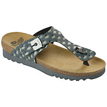 Buy Scholl Boa Vista Toe Post Sandals, Dark Grey Online at johnlewis.com